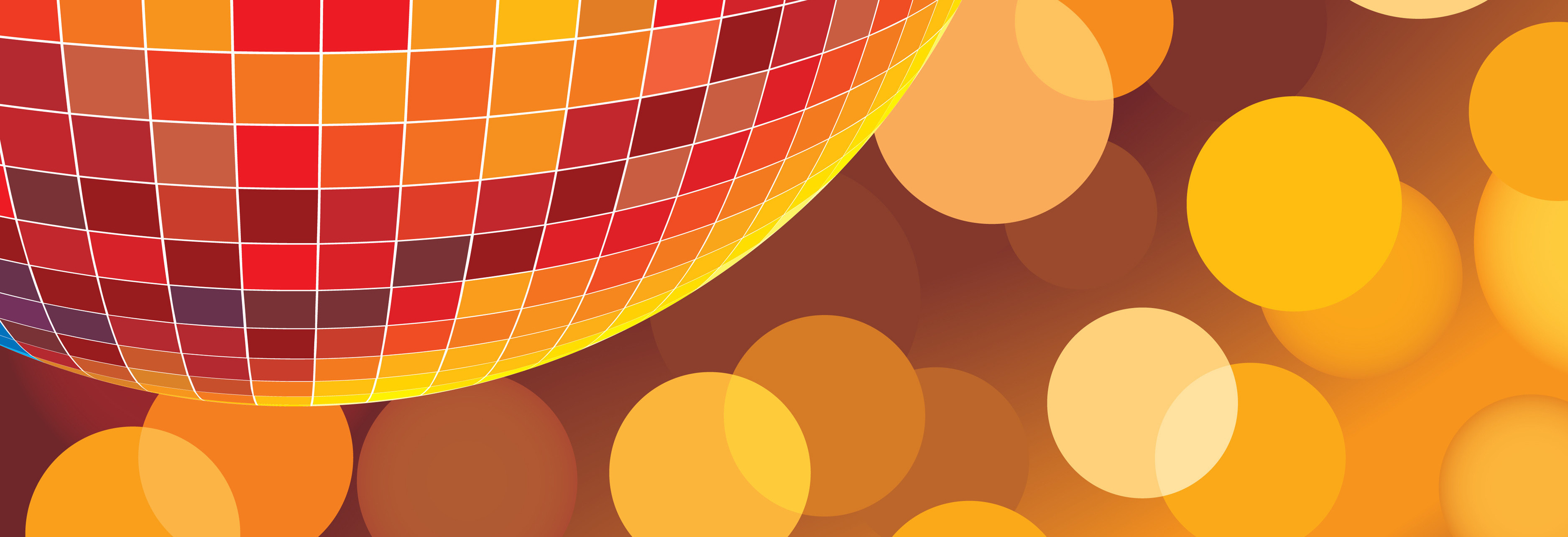 Party disco background with glowing lights